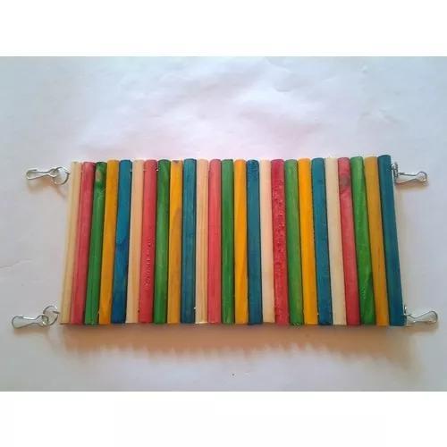 Passarela de madeira 50cm + toca colorida - para chinchilas