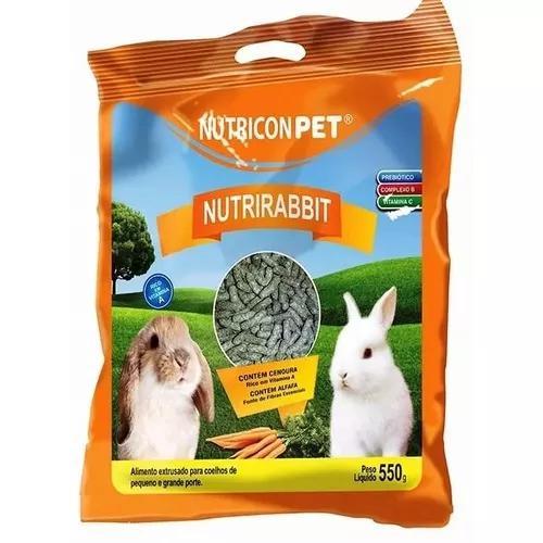 Ração especial p/ todas as especies de coelhos e mini