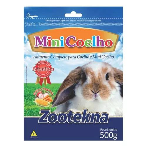 Ração zootekna mini coelhos e coelhos pet valle - 500g