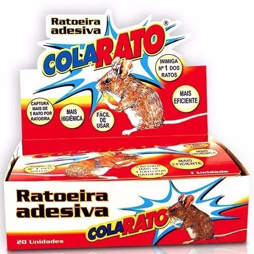 Ratoeira adesiva cola pega rato caixa 20 unidades