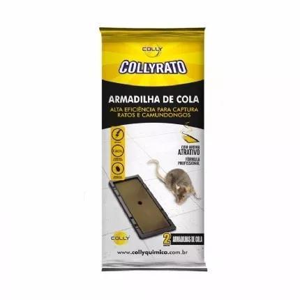 Ratoeira adesiva cola pega rato colly caixa 24 unid