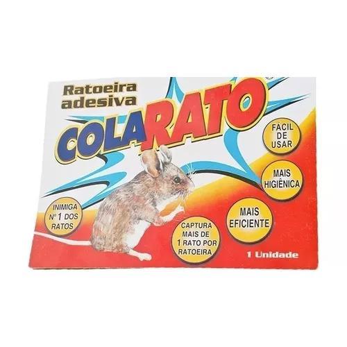 Ratoeira adesiva cola rato kit com 2 - frete gratis