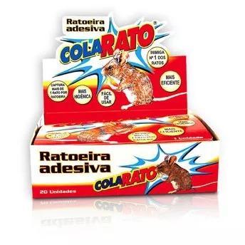 Ratoeira adesiva cola ratos e baratas caixa com 20 unidades
