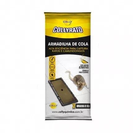 Ratoeira cola pega rato light 18x12cm colly 1 unidade