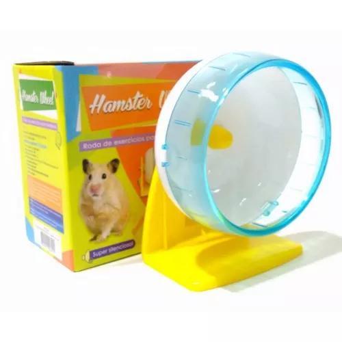 Roda exercicios hamster roedores savana c/ suporte grande