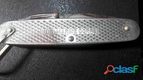 Canivete antigo U.S. Marine Corps.Made in Usa. 1