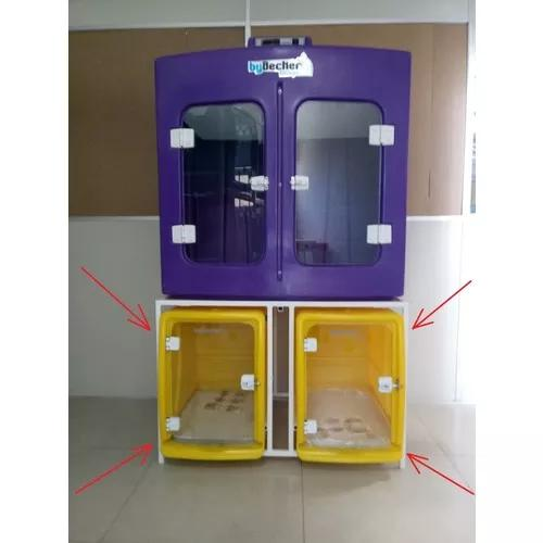 Canil duplo inferior p/secadora bybecker - 12x s