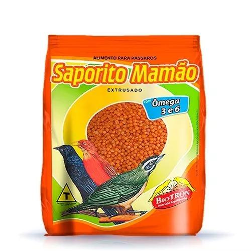 Kit 2 ração saporito mamão 2,5kg - alimento extrusado