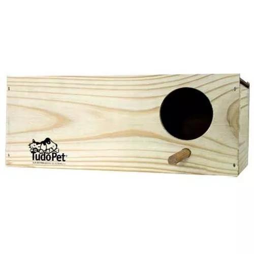 Ninho de madeira pinus para calopsita mr pet