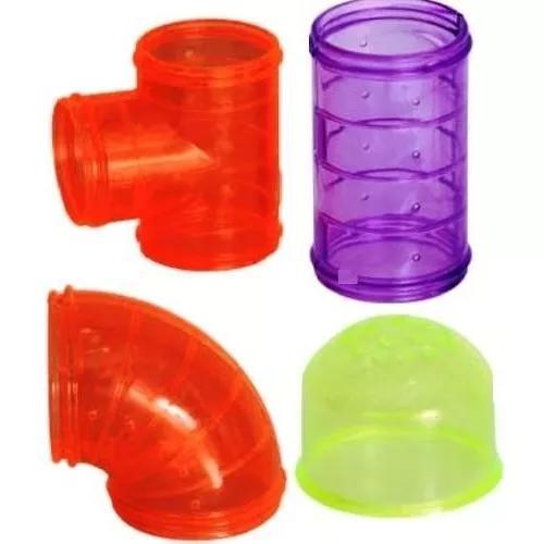 Tubos de gaiolas hamster - 06 anéis grátis! kit 06 tubos
