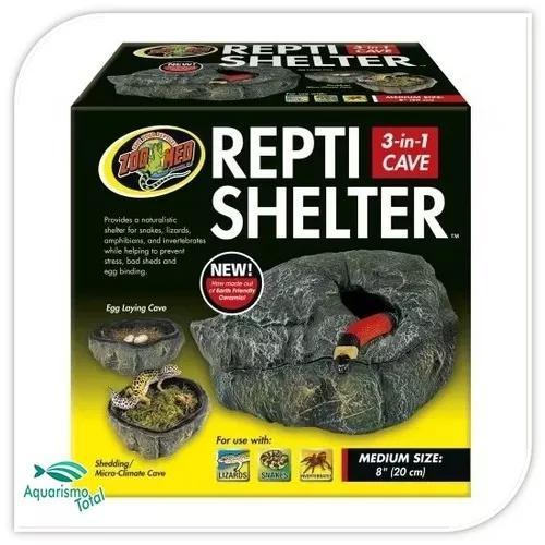 Zoomed repti shelter toca abrigo para répteis médio rc-31