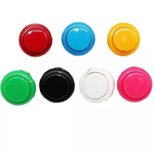 10 botão tipo sanwa 24mm c/ micro fliperama botões