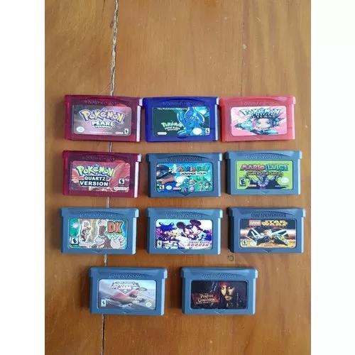 11 games game boy advance pokémon mario donkey kong + jogos