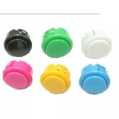 8 botões tipo sanwa 30mm c/ micro fliperama botão joystick