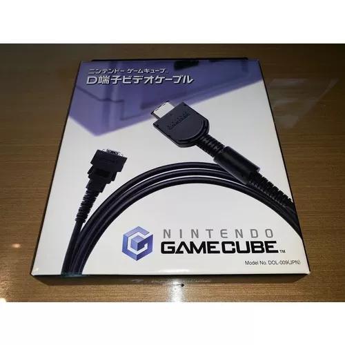 Apenas caixa cabo video componente d-terminal gamecube nova