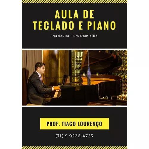 Aula particular de piano teclado
