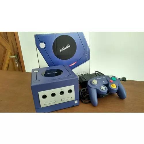 Console nintendo game cube indigo na caixa