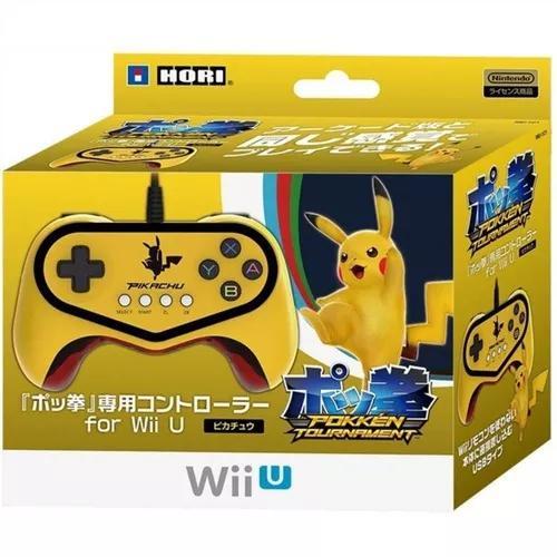 Controle pokken tournament pro pad - pikachu - wii u.