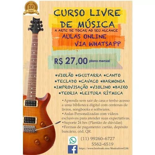 Curso de música completo aulas online via whatsapp