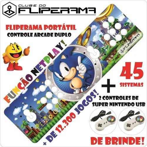Fliperama portátil multijogos arcade duplo - frete