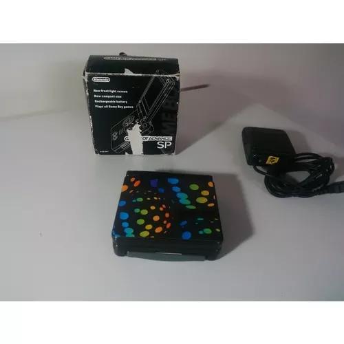 Game boy advance sp black ags-001+ carregador