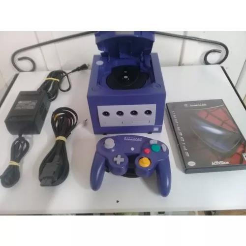 Game cube azul índigo- nintendo - roda jogos eua.
