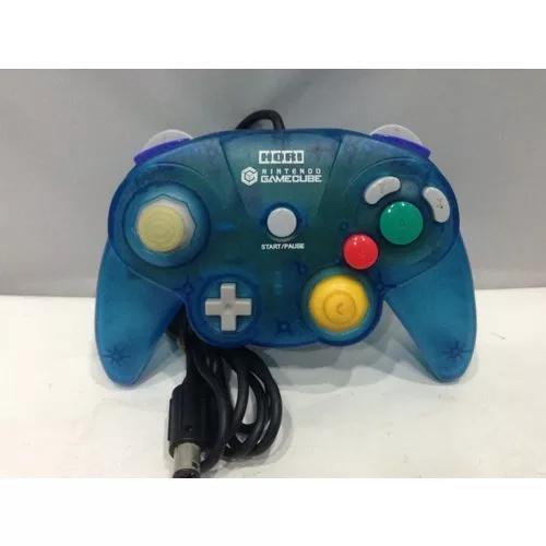 Hori pad gamecube controle clear blue raro original