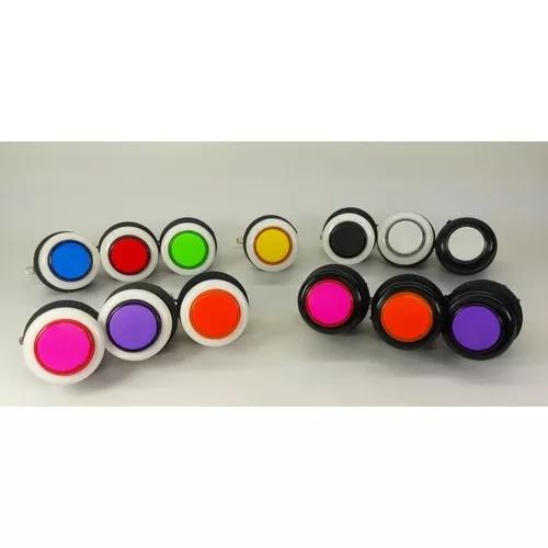 Kit 6 botões de acrilico p/ jukebox fliperama bartop games