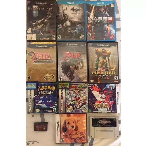 Lote de jogos: game cube, wiiu, game boy advance, 3ds e etc.