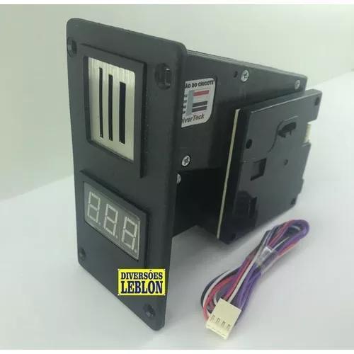 Moedeiro multi moedas r$0,25 r$0,50 r$1,00 jukebox fliperama