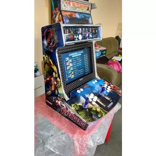 Máquina fliperama arcade bartop pk multijogos linda,
