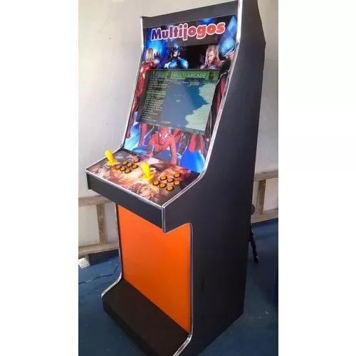 Máquina multijogos led 19 arcade 999 jogos