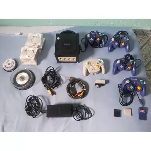 Nintendo game cube completo com 5 controles e jogos