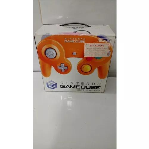 Nintendo game cube laranja japondes desbloqueado (completo)