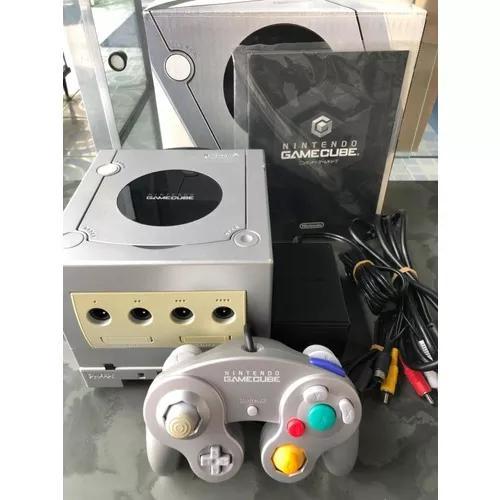 Nintendo game cube prata japonês com caixa e g boy player