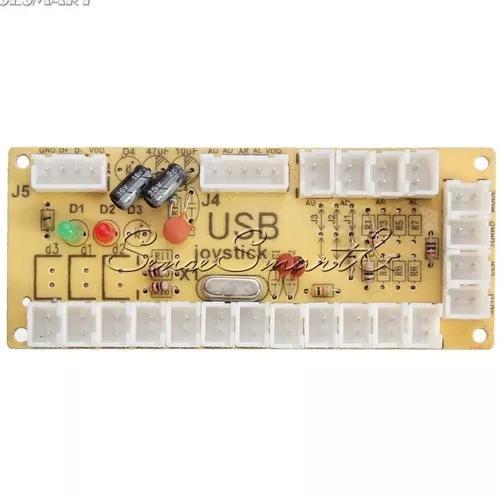 Placa zero delay atraso usb joystick fliperama pc ps4 s/cabo