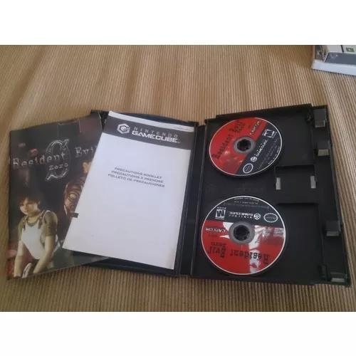 Resident evil zero game cube completo na caixa americano