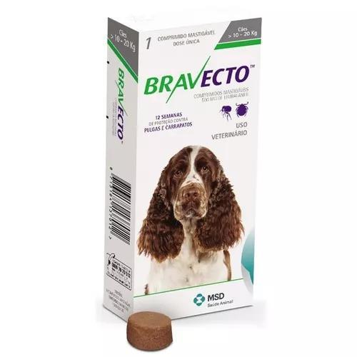 Antipulgas e carrapatos bravecto cães de 10 a 20 kg - 500