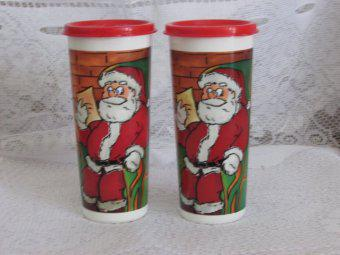 Kit de 2 Copos Papai Noel Tupperware