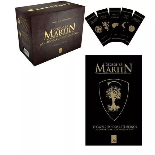 Box game of thrones + cavaleiro dos 7 reinos (6 livros)