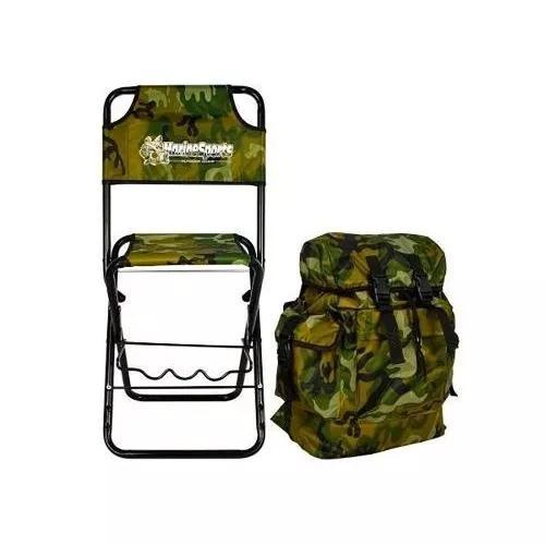 Cadeira com mochila e porta vara marine sports dobrável