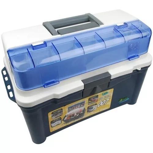 Caixa multiuso maleta pesca brasil pb box 007 cor azul