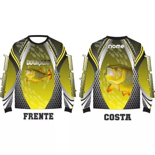 Camisa pesca protecão uv50 personalizada b