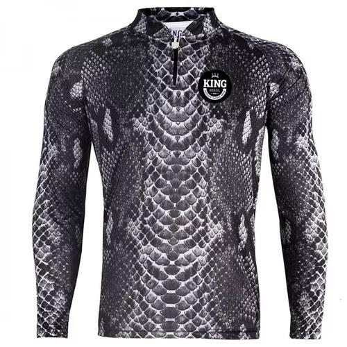 Camiseta de pesca king proteção solar uv viking 17