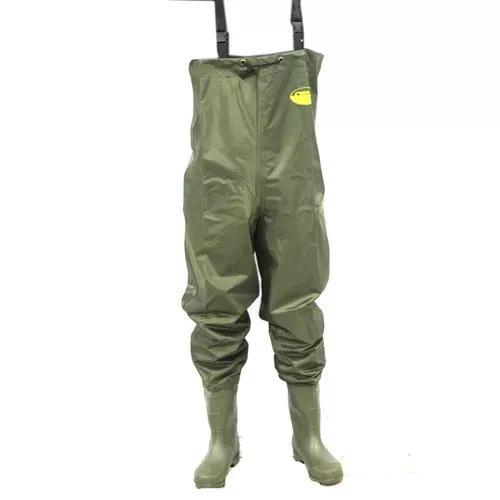 Jardineira macacão pesca impermeável bota verde nylon