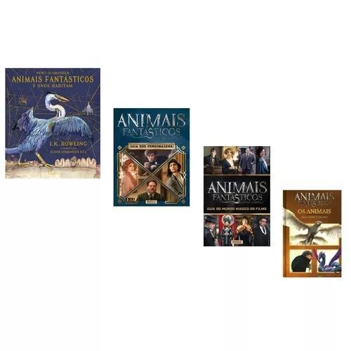 Kit livros animais fantásticos e onde habitam harry potter
