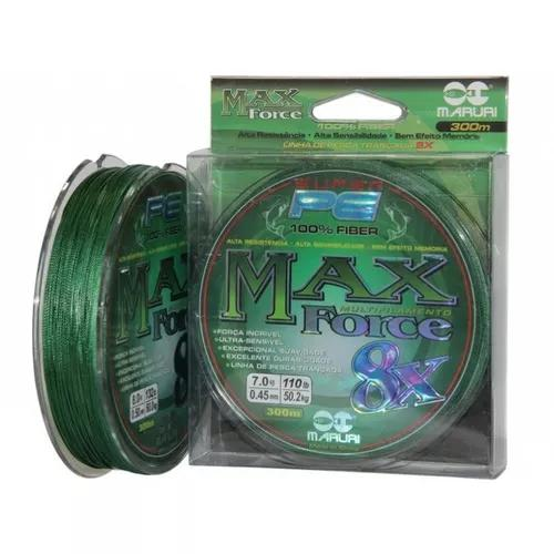 Linha Multifilamento Maruri Max Force 8x 8 Fios 0,50mm 300mt