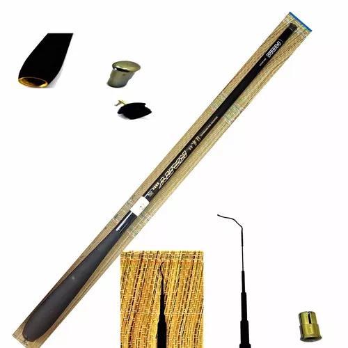 Vara pesca 100% fibra carbono telescópica ultra leve 3,6m