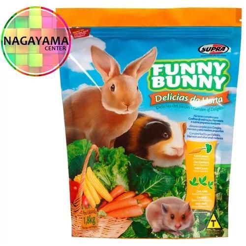 4 funny bunny ração delícias da horta coelho 1,8kg