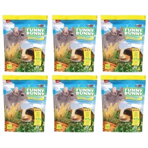 6 ração alimento chinchila porquinho india funny bunny